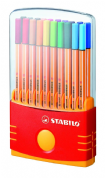 Stabilo Point 88 - Fineliner - Assorted Colours - 0.4 mm - Fine - pack of 20